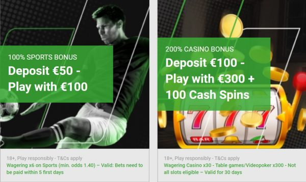 Welcome Bonus Unibet Casino