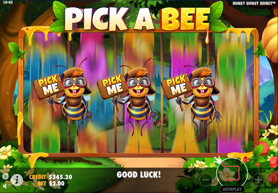 Pick a Bee feature